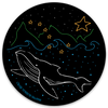 Whale Night Sky Decal | Crab Terror Island - Crab Terror Island