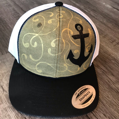 Black Sparkly Anchor Hat (02)