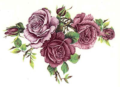 Long Stem Pink Rose Flower Select-A-Size Waterslide Ceramic Decals Bx