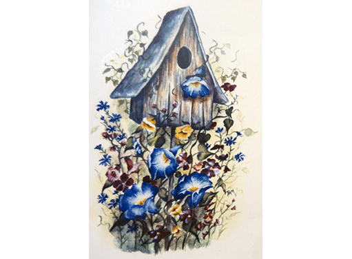 Morning Glory Flowers Birdhouse Item # 10943