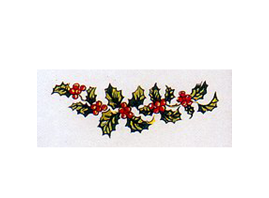 Christmas Holly with Berries 1278