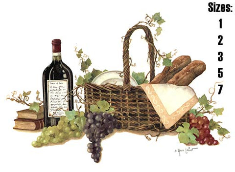 Basket of Romance Wine Grapes Bread  130