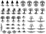 "Trees & Roots 3/8"" to 1-1/4""  Black #427 or White #428 Fused Glass Decals"