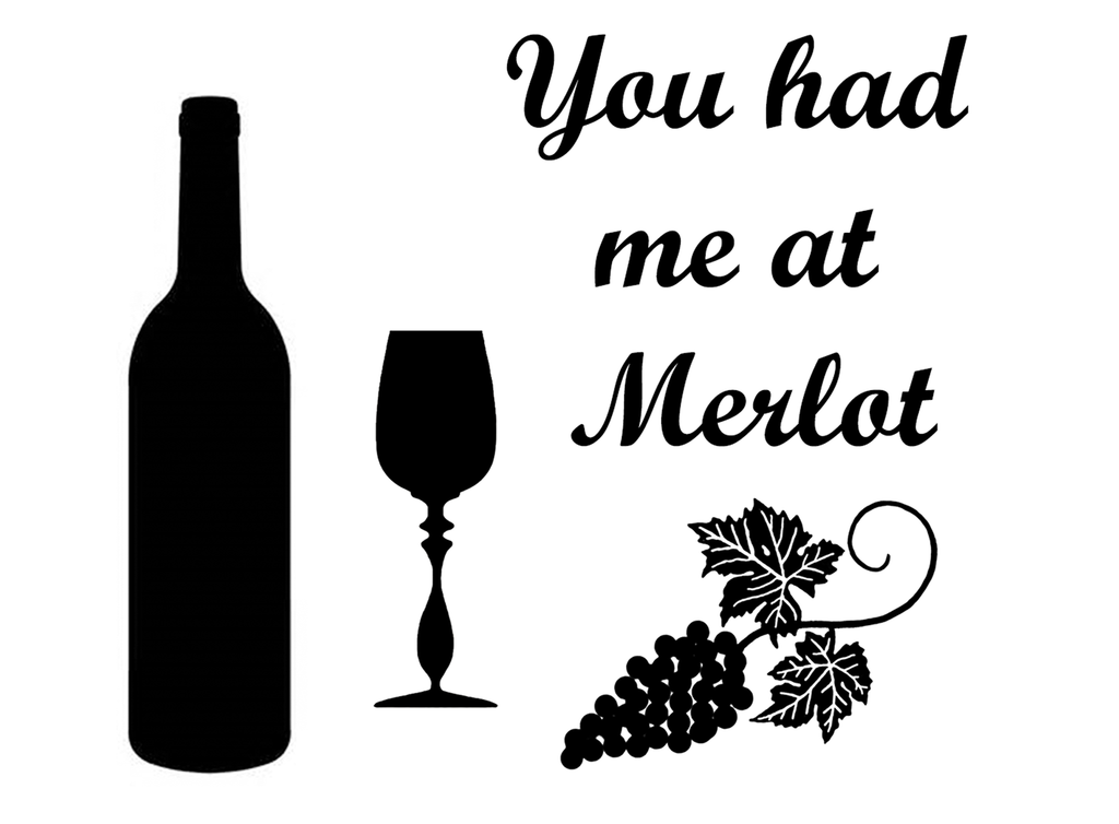 "Merlot   3-5/8""  Black  Fused Glass Decal"