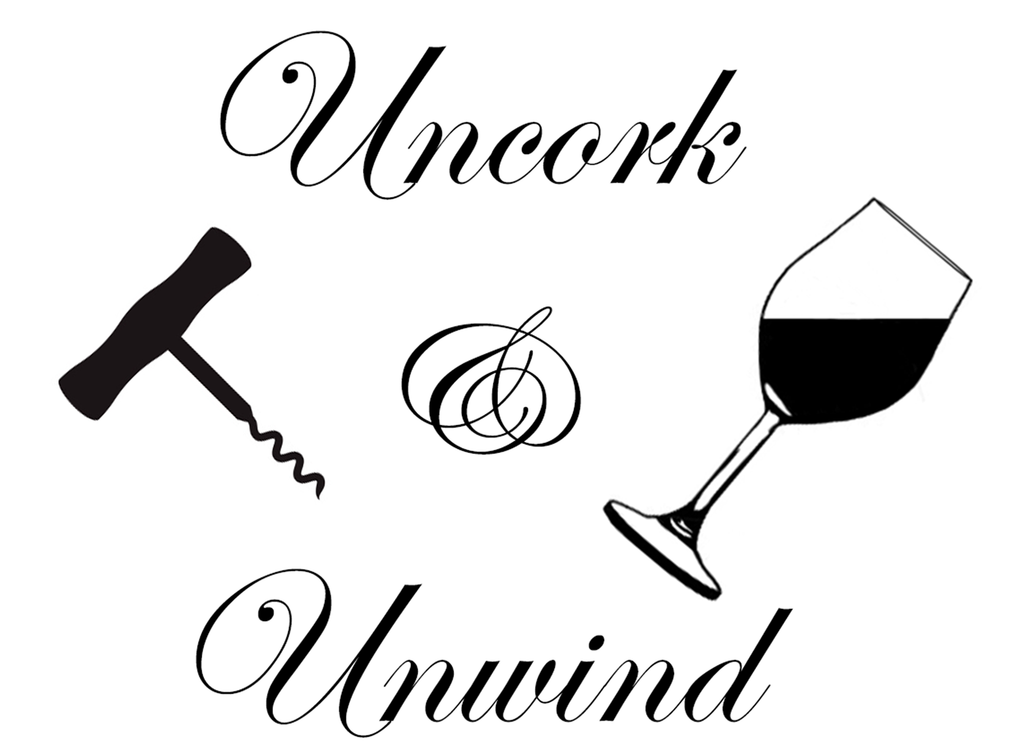 "Uncork Unwind  3-3/8""  Black  Fused Glass Decal"