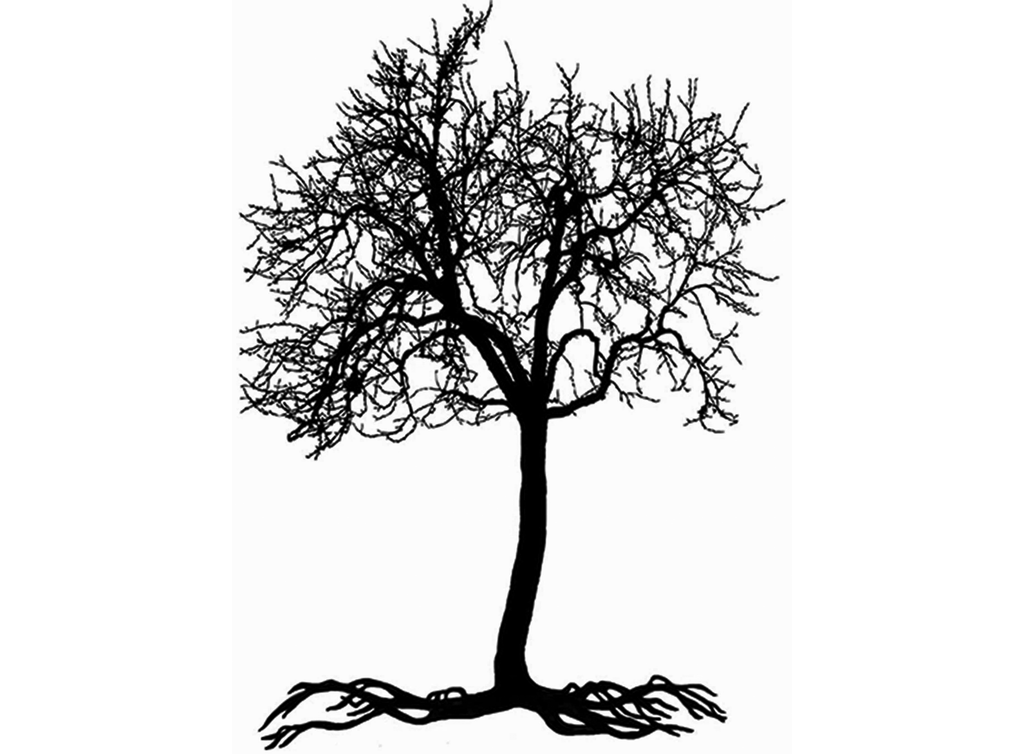 "Tree  3-3/4"" Black #478 or White #489 Fused Glass Decal"