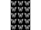 "Butterfly Butterflies  1"" Black #376 or White #530 Fused Glass Decals"