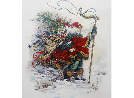 163 Christmas Santa Wind Swept Traveler