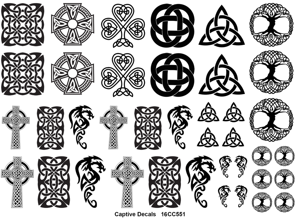 Celtic Knot Fun  Black #551 Fused Glass Decals