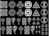 "Celtic Knot Fun  1/2"" to 1 1/4""  White #577 Fused Glass Decals"