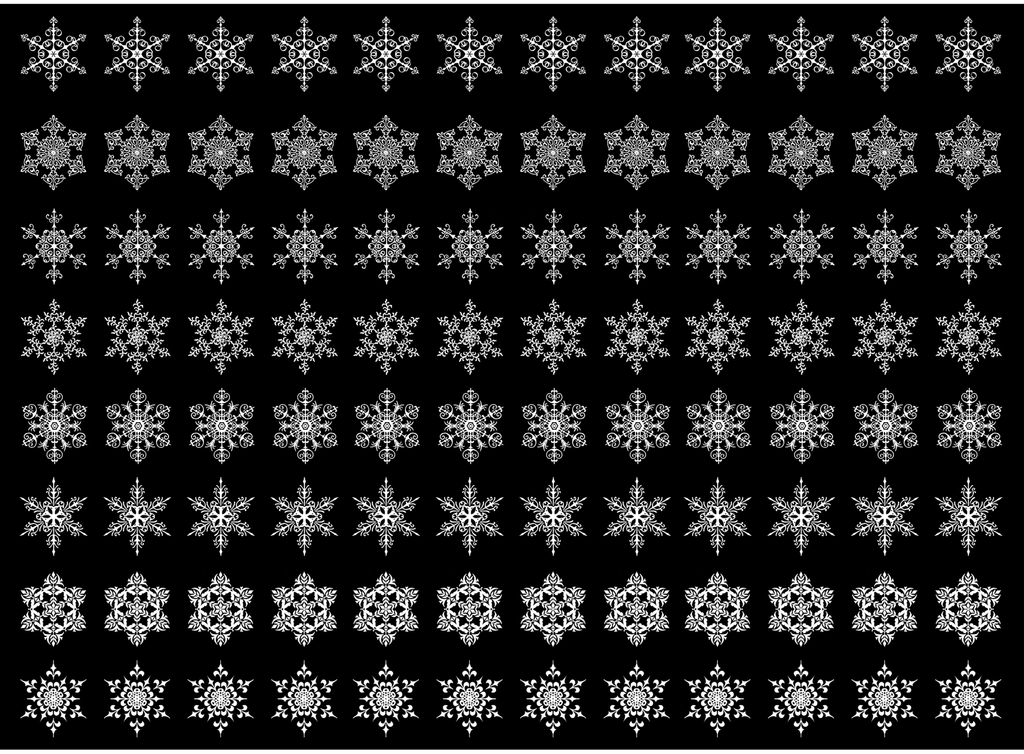 "Snowflakes  1/2""   White #578 Fused Glass Decals"