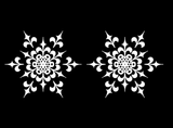 "Snowflakes 2 pcs  3""  White #590 Fused Glass Decals"