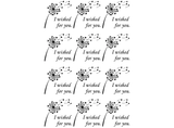 I wished for you Dandelion  Black #732 or White #755 Fused Glass Decals