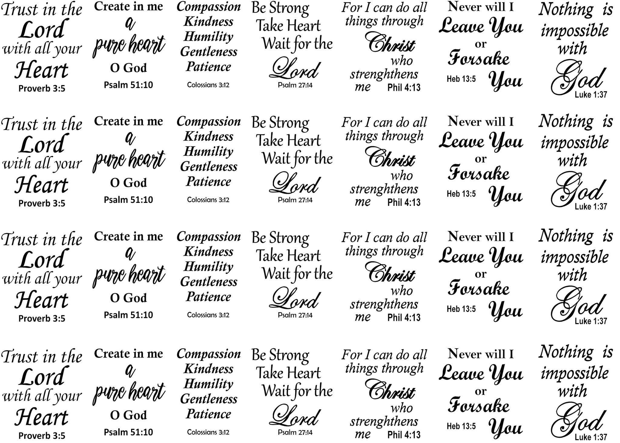 Bible verse proverb psalm black 738 or white 749 fused glass bible verse proverb psalm black 738 or white 749 fused glass decals buycottarizona Images