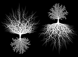 "Rooted Tree 3-1/2""  Black #734 or White #744 Fused Glass Decals"