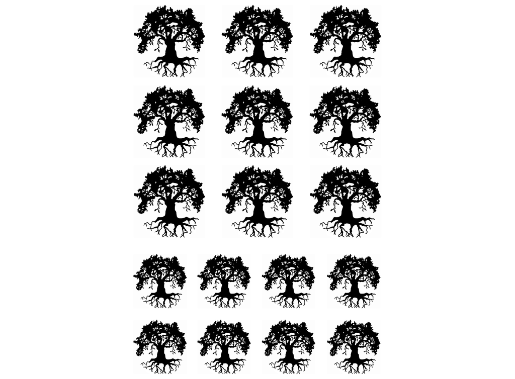 Oak Tree of Life Black #763 Fused Glass Decals
