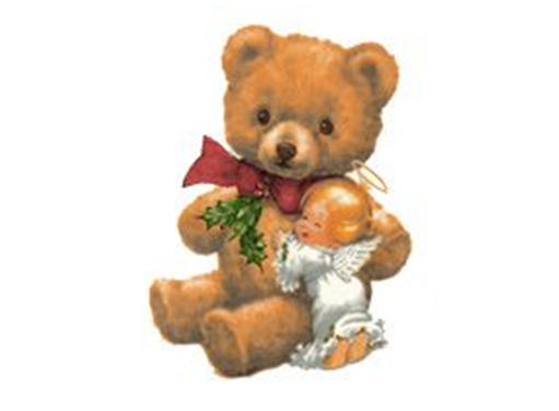 17546 Christmas Teddy and Angel