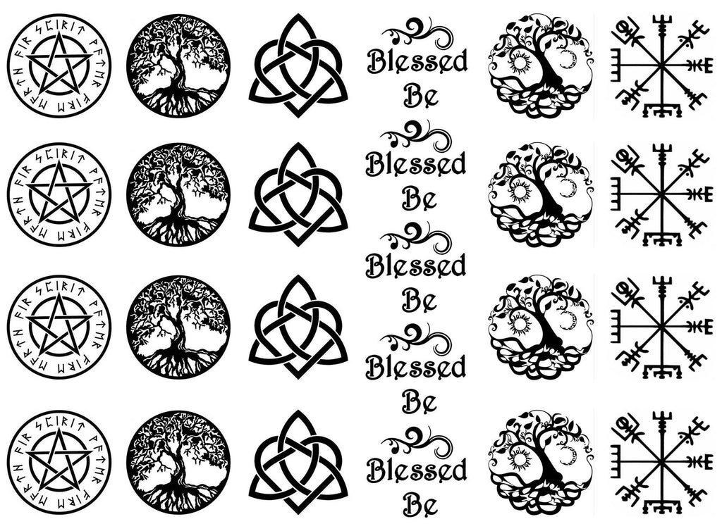 Blessed Be  Black #777 or White #779  Fused Glass Decals