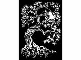 Twisting Tree 2 pcs Black #843 or White #789 Fused Glass Decals