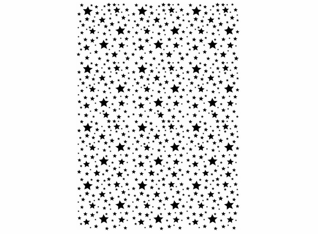 "Allover Tiny Stars  5"" X 3.5"" Card  Black #1074 or White #1077 Fused Glass Decals"