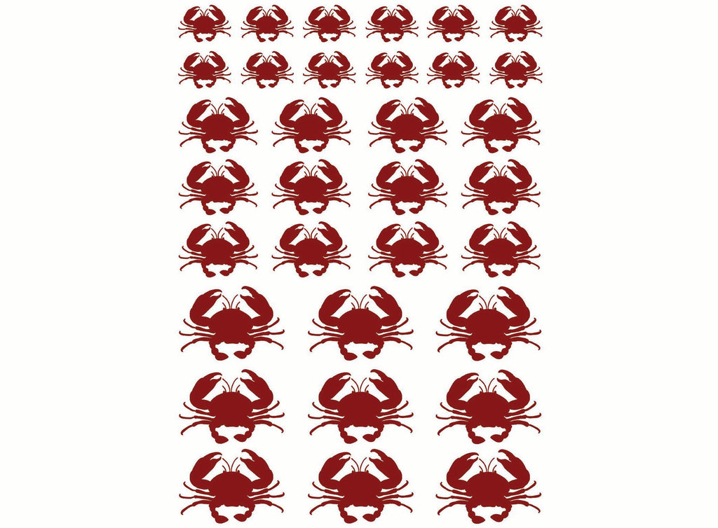 Crab Red #1104 Fused Glass Decals
