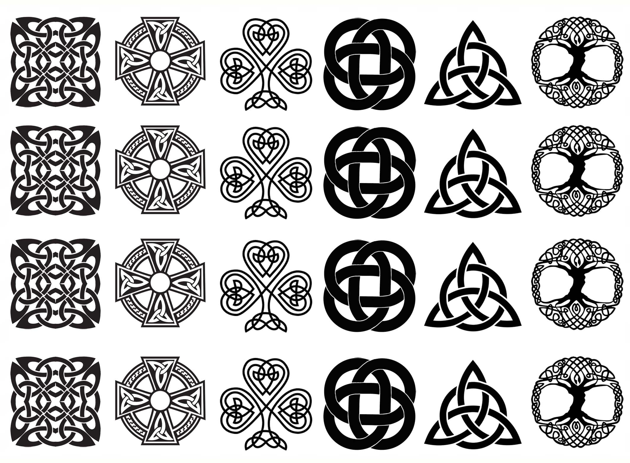 Home products celtic knot six 1 black 941 fused glass decals