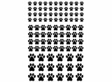 "Tiny Dog Cat Paw Prints 98 pcs on 5"" X 3-1/2"" Card Black 1087 or White 1123 Fused Glass Decals"