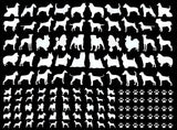 Mini Dog Paw Print  Black 671 or White 1122  Fused Glass Decals
