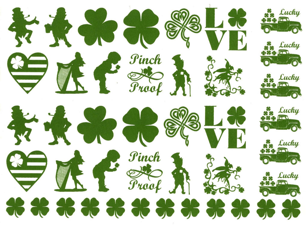 St Patrick's Day Green  #1157 Fused Glass Decals