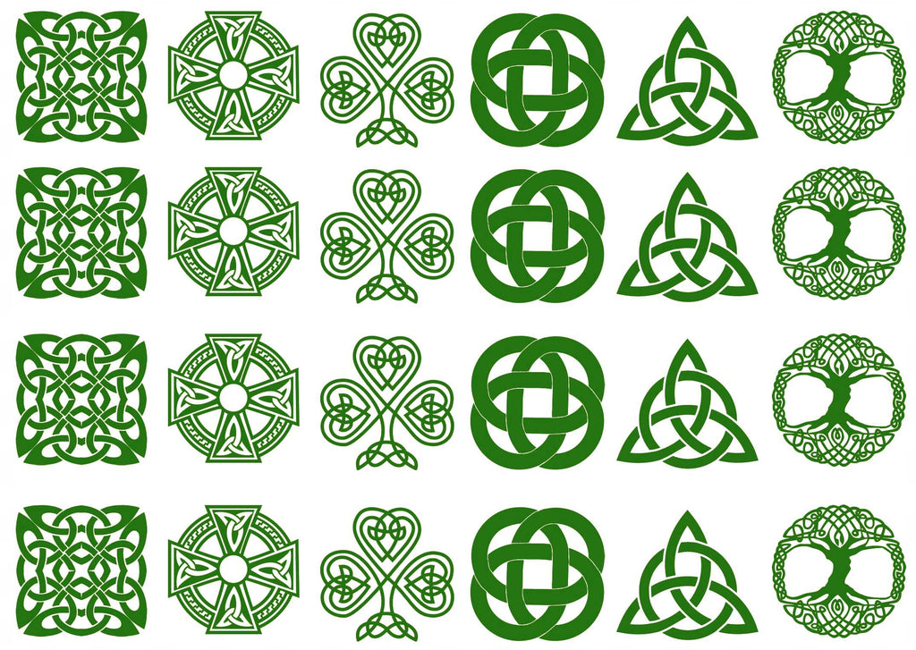 Celtic Knots Green  #1160 Fused Glass Decals