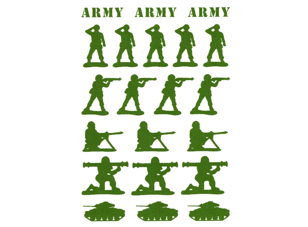 Army Men Green  #1167 Fused Glass Decals