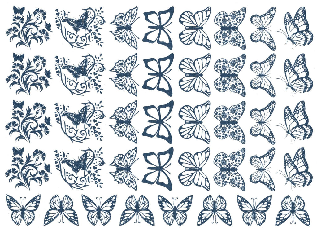 Butterfly Blues Blue #1175 Fused Glass Decals