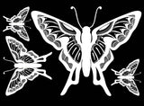 "Butterfly 4"" X 3-1/4"" Black 1207 or White 1199  Fused Glass Decals"
