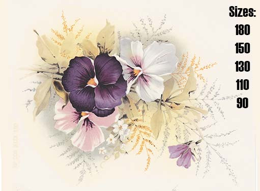 Pansy Purple Pink White Flowers Item # 208