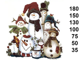 Christmas Snowman Folk Art  410