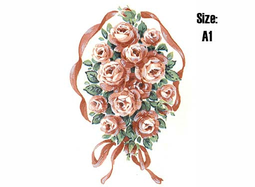 Bouquet Di Rose Ribboned Wreath  41839