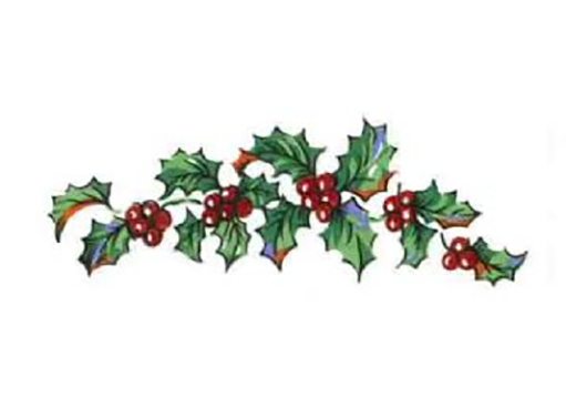 Christmas Holly and Berries  Item # 458