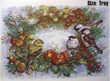 Pine Apple Wreath Chickadee Goldfinch Wren Birds  4726