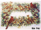 Pine Fruit Wreath Cardinal Birds  4728