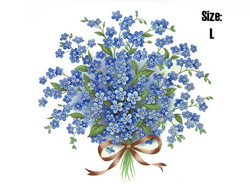 Forget Me Not Bouquet Blue 5116