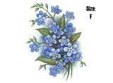 Forget Me Not Spray Blue 5116