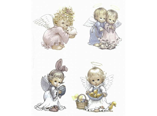 "Easter Angels 4 pcs 5 3/4"" X 5""  Item # 5219"