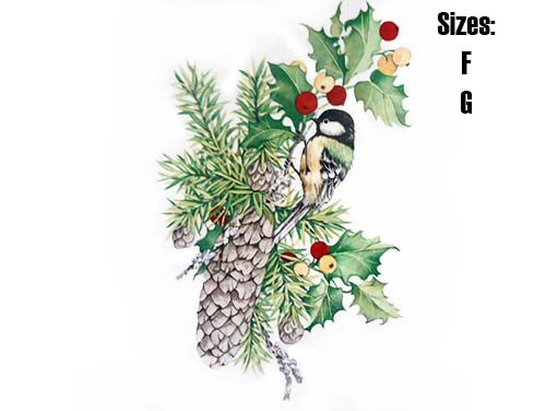 Pine Cones and Chickadee 5260