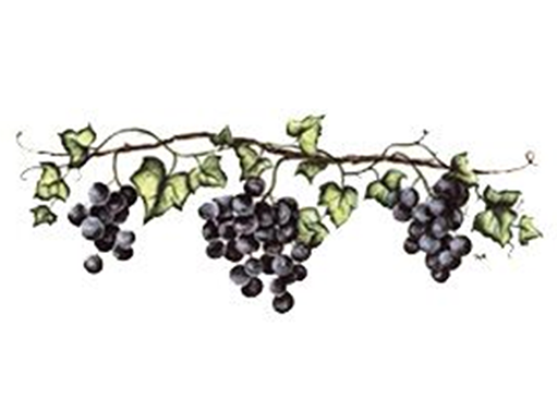 Purple Grape Vines Border 5391
