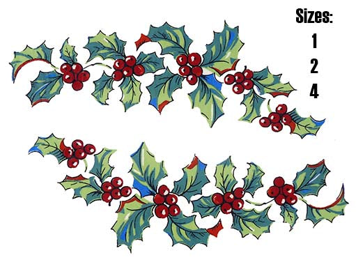 Christmas Holly and Berries # 5812