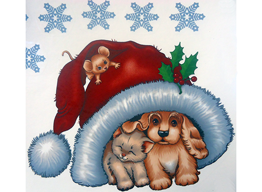 Christmas Puppy Kitten Helpers 618