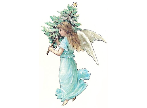 Christmas Angel with Tree 9710