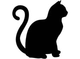 "Cat Select-A-Breed 2 pcs 3-1/2""  Black #797-802 Fused Glass Decals"