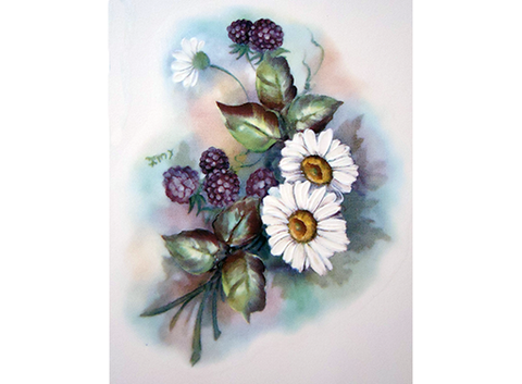 Blackberry and Daisy Flowers 11908B
