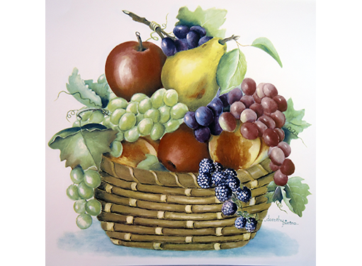 Dorothy Basket of Fruit  11710